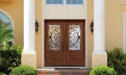 Tru Tech Wrought Iron Glass Door