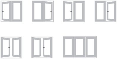 Garden Door Hinge Options