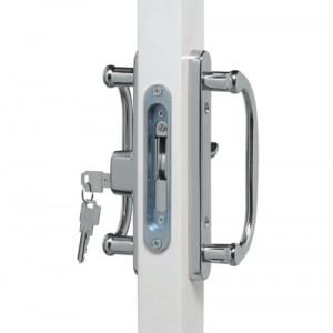 Chrome Legacy Lock with Key (upgrade) Available in Bright or Satin finish