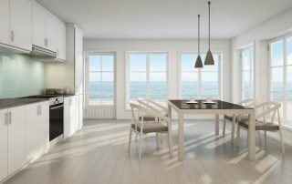 3d rendering of interior with dining table